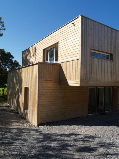 Ecological wooden house extension